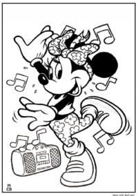 Minnie+mouse+hip+hop+dance+coloring+pages | Dance coloring ...