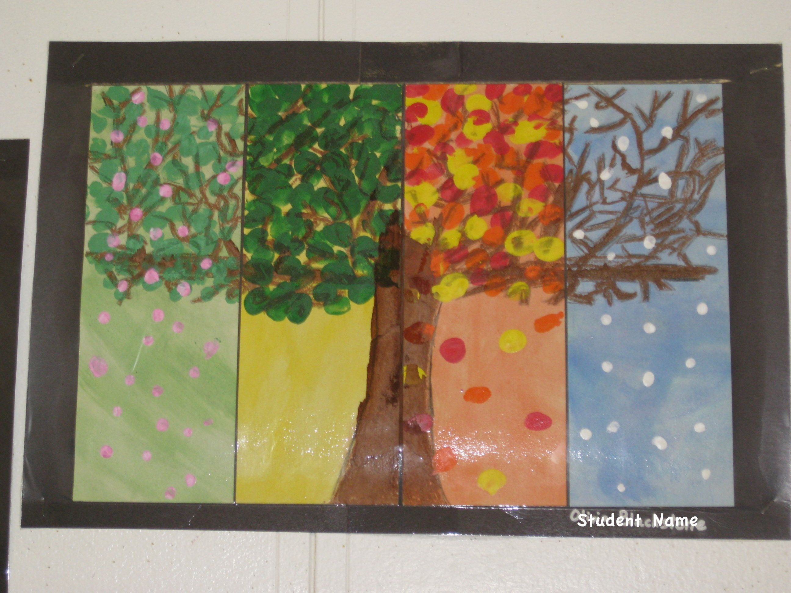 Four Season Tree By A Second Grader My Second Graders Apparently Do Not Know What A Tree Looks