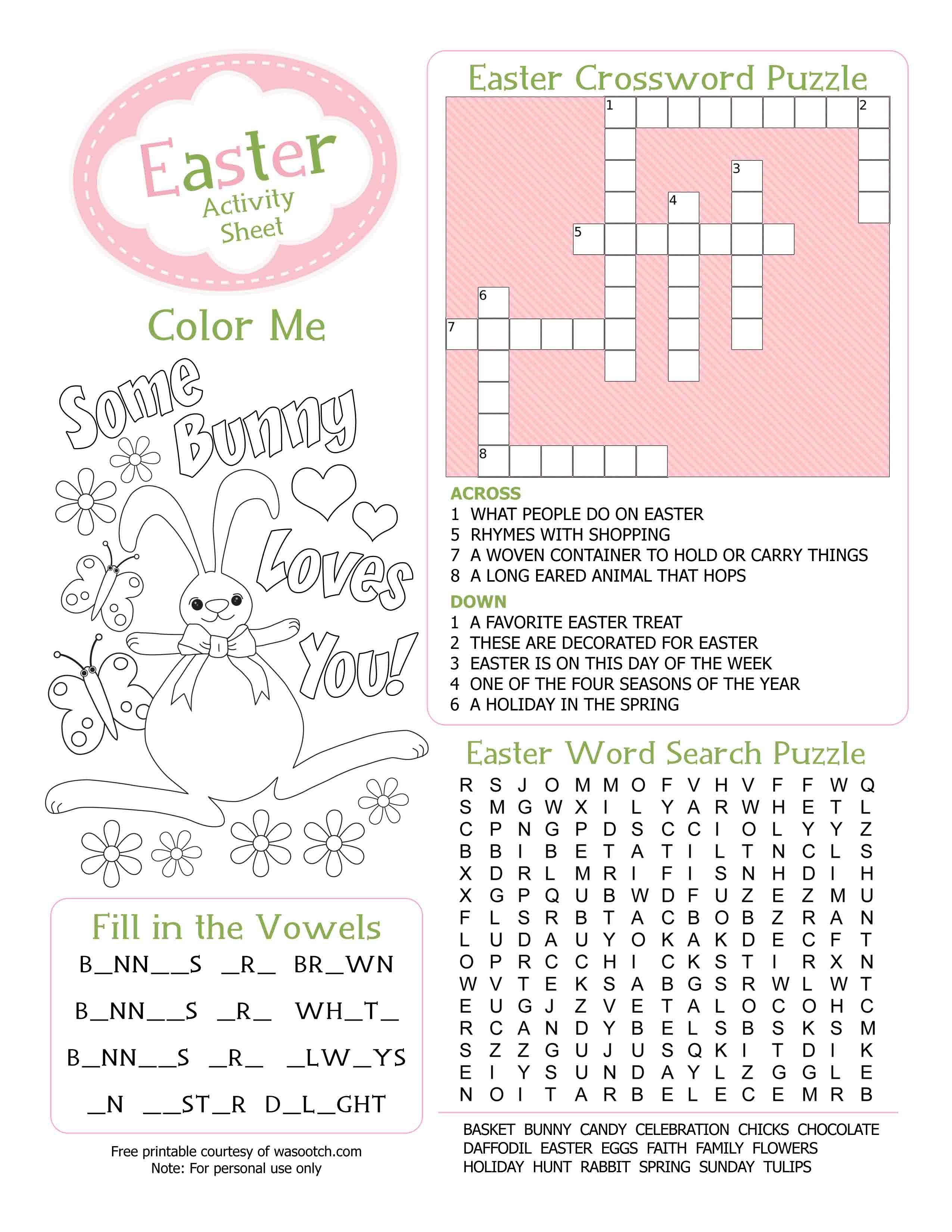 Easter Kid S Activity Sheet Free Printables Available