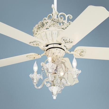 52 Casa Chic Antique White Ceiling Fan With 4 Light Kit This Might