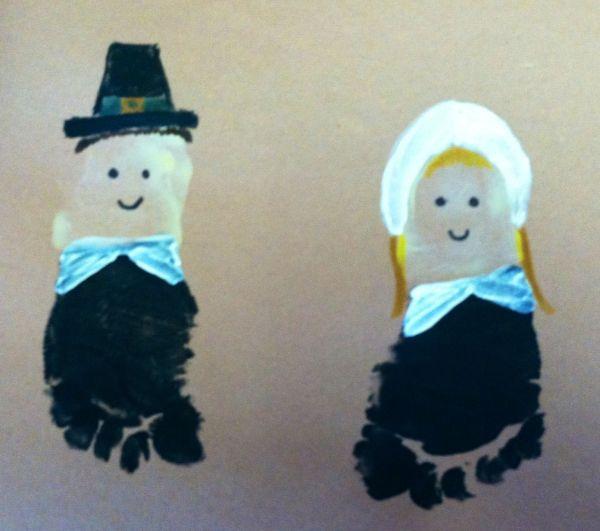 Foot-print Pilgrim Art Footprint And Handprint Printing