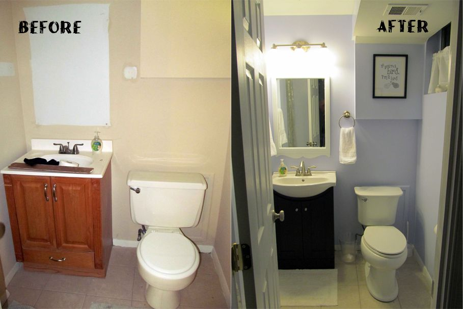 Bathroom Simple Renovation For Small Bathroom Before And