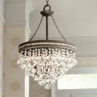 "Regina Olive Bronze 19"" Wide Crystal Chandelier"