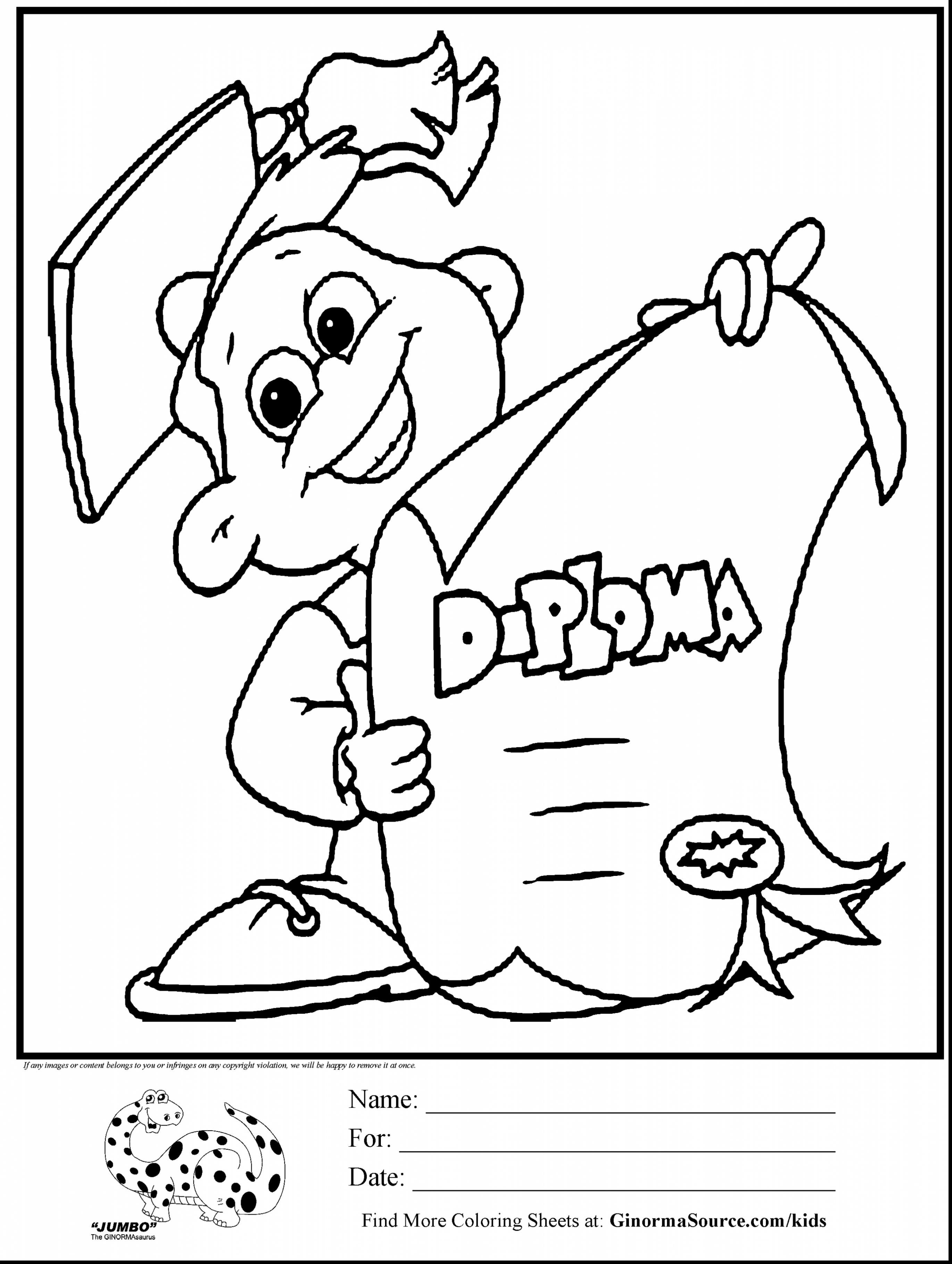 Coloring College Graduation Coloring Page For Preschool Pages On