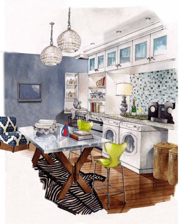 Hand Rendering Interior Design