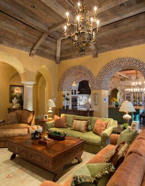 Mediterranean Living Room Design Ideas Pictures Remodel And