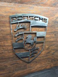 Porsche Logo Sign Metal Wall Art Decor Man Cave