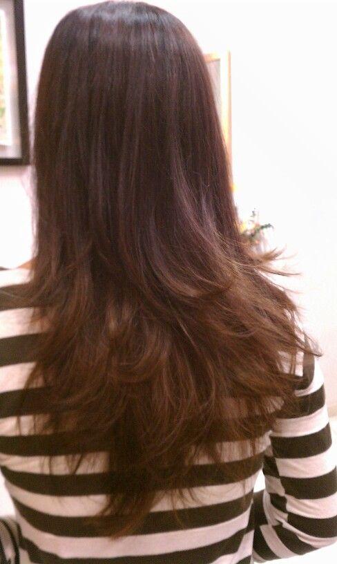Long Layer Haircut Like This But Straight Нaιrѕтyle
