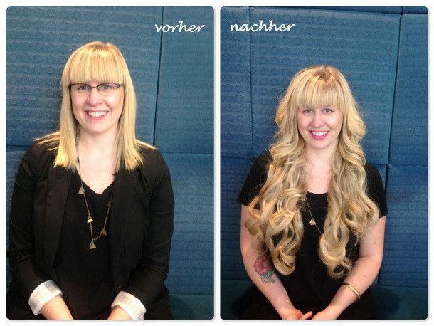 Vorher Nachher Frisuren Mit Clip In Haarverlängerung Vorher