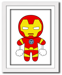 Superhero Ironman print for little boys room,cute little ...
