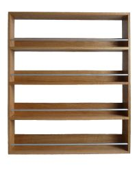 Classic Solid Wooden Brown Wall Mounted Spice Rack with ...