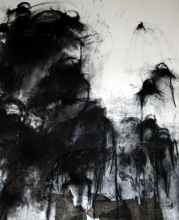 Contemporary Art Charcoal Drawing