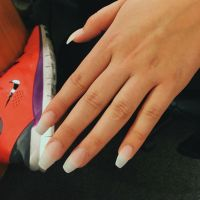 Clear acrylic nails, coffin shape - Nail Designs | Pinterest