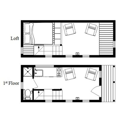 A Sample From The Book Tiny House Floor Plans 8x20 Tiny House