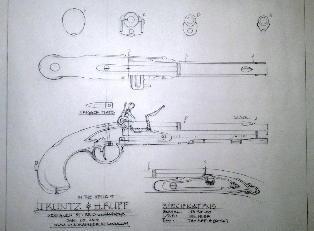 Derringer Pistol Blueprints