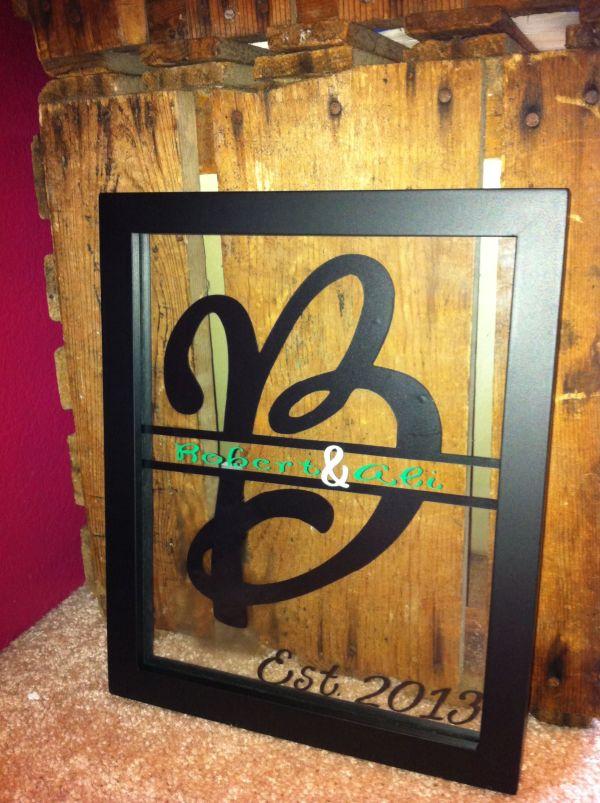 Personalized Sign. Framed Decor. Diy. Cricut Vinyl. Projects. Wedding