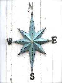 Nautical Wall Art Metal Compass Wall Art Nautical by ...