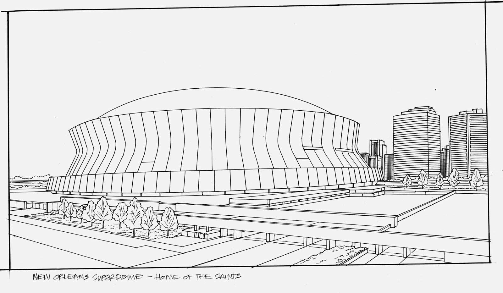 Superdome Drawing