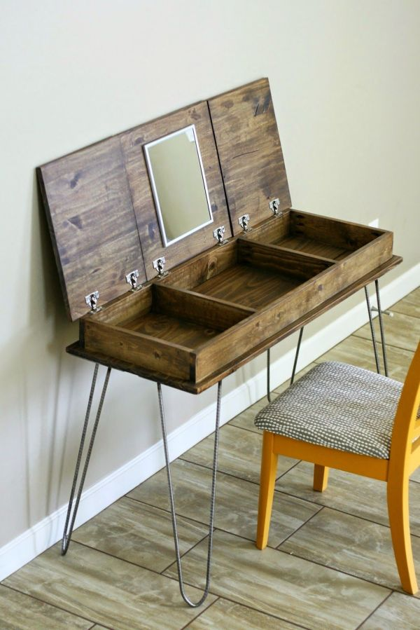DIY Makeup Vanity Table Plans