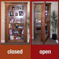 Secret room bookcase door