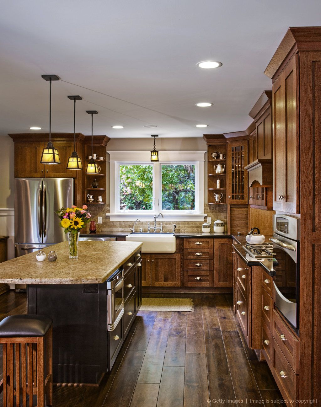 Image detail for Hardwood floors and cabinets in kitchen