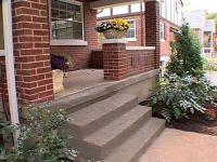How to Patch Concrete Porch Steps | Concrete porch, Porch ...