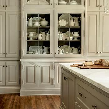 Kitchen With China Cabinet Transitional Kitchen Westbrook