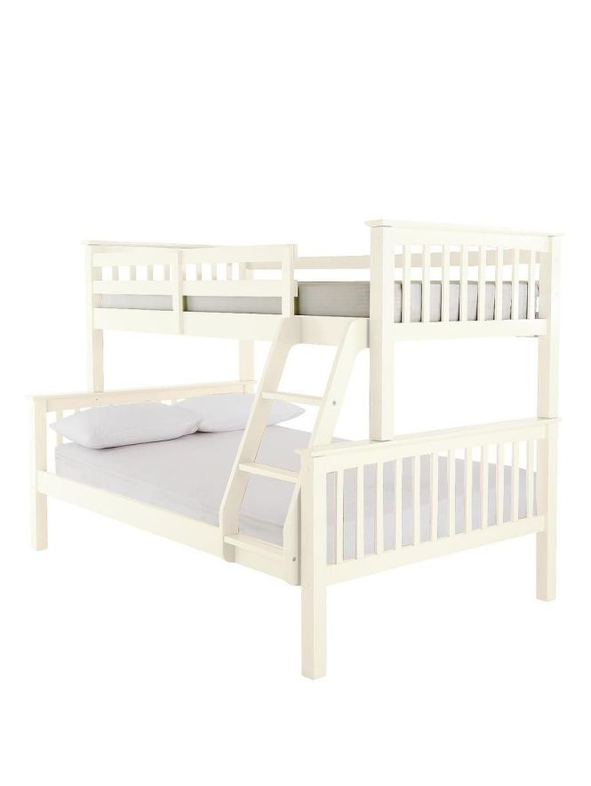 New Novara Solid Pine Trio Bunk Bed With Optional Mattresses Http Www
