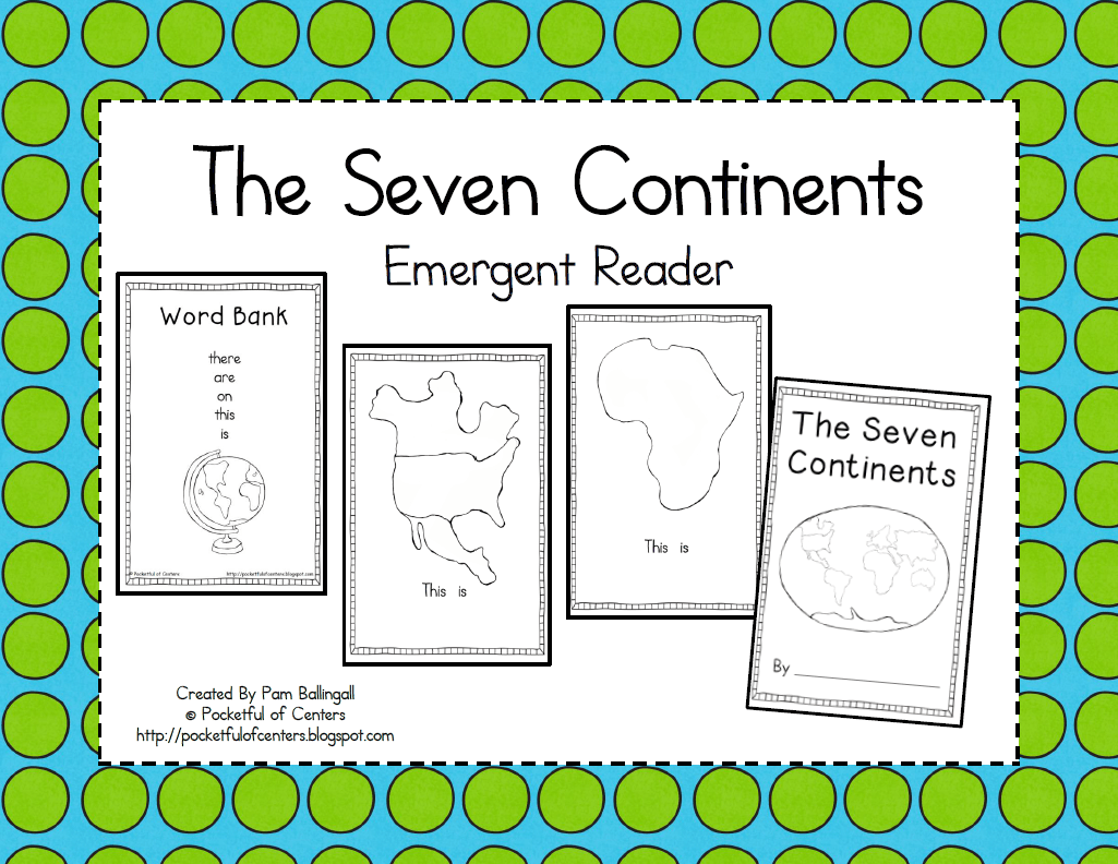The Seven Continents Cut And Paste Emergent Reader