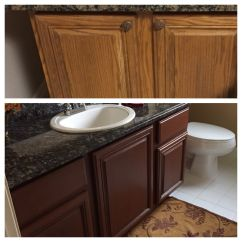 Rustoleum Kitchen Cabinet Kit Reviews Aid Mixing Bowl Top Pic Before Color Bottom After Using