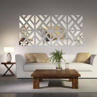 Mirrored Chevron Print Wall Decoration | Wall decorations ...