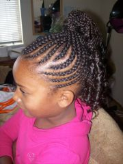 extension cornrows ponytail kids