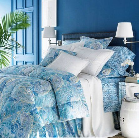 Lauren By Ralph Lauren Bedding Jamaica Blue Paisley Full
