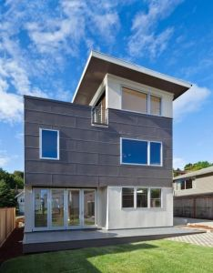The aurora greenfab series achieves energy efficiency in  modular compact frame with an open floor plan automatic sliding doors and rooftop deck also rh pinterest