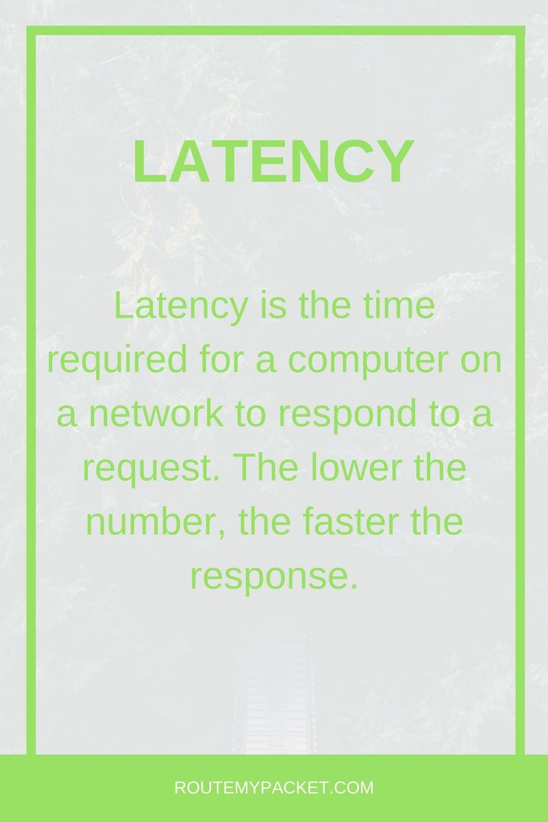 hight resolution of basics about latency in networking learn more at routemypacket com see also computer connection networkjuniper networksnetwork speedhome