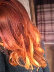 auburn red ombre hair color coiffure