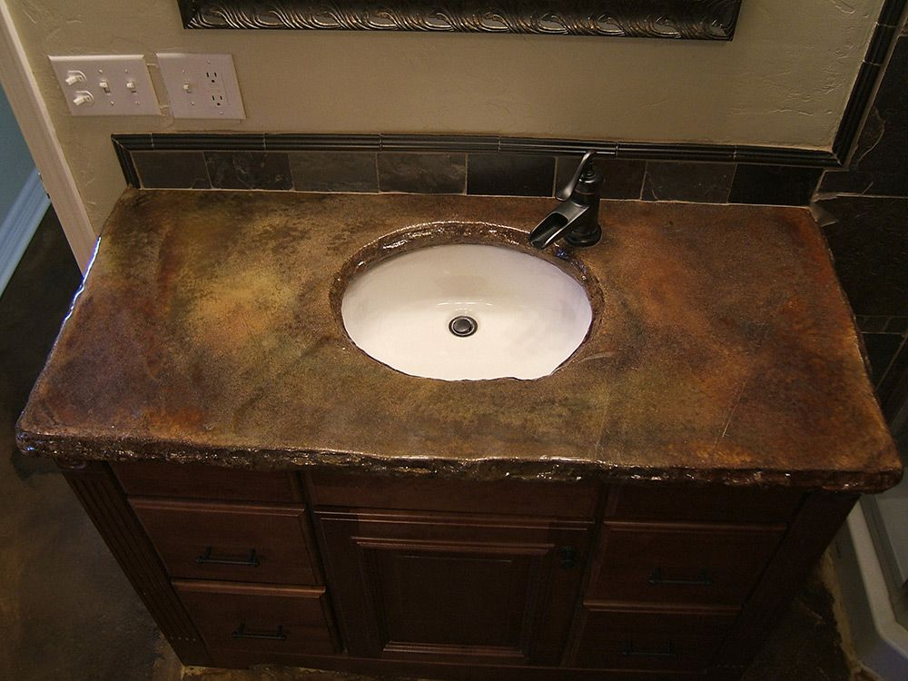 Outstanding Concrete Bathroom Countertops Design Ideas