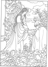 Angel colouring page | Adult Colouring~Fairies~Angels ...