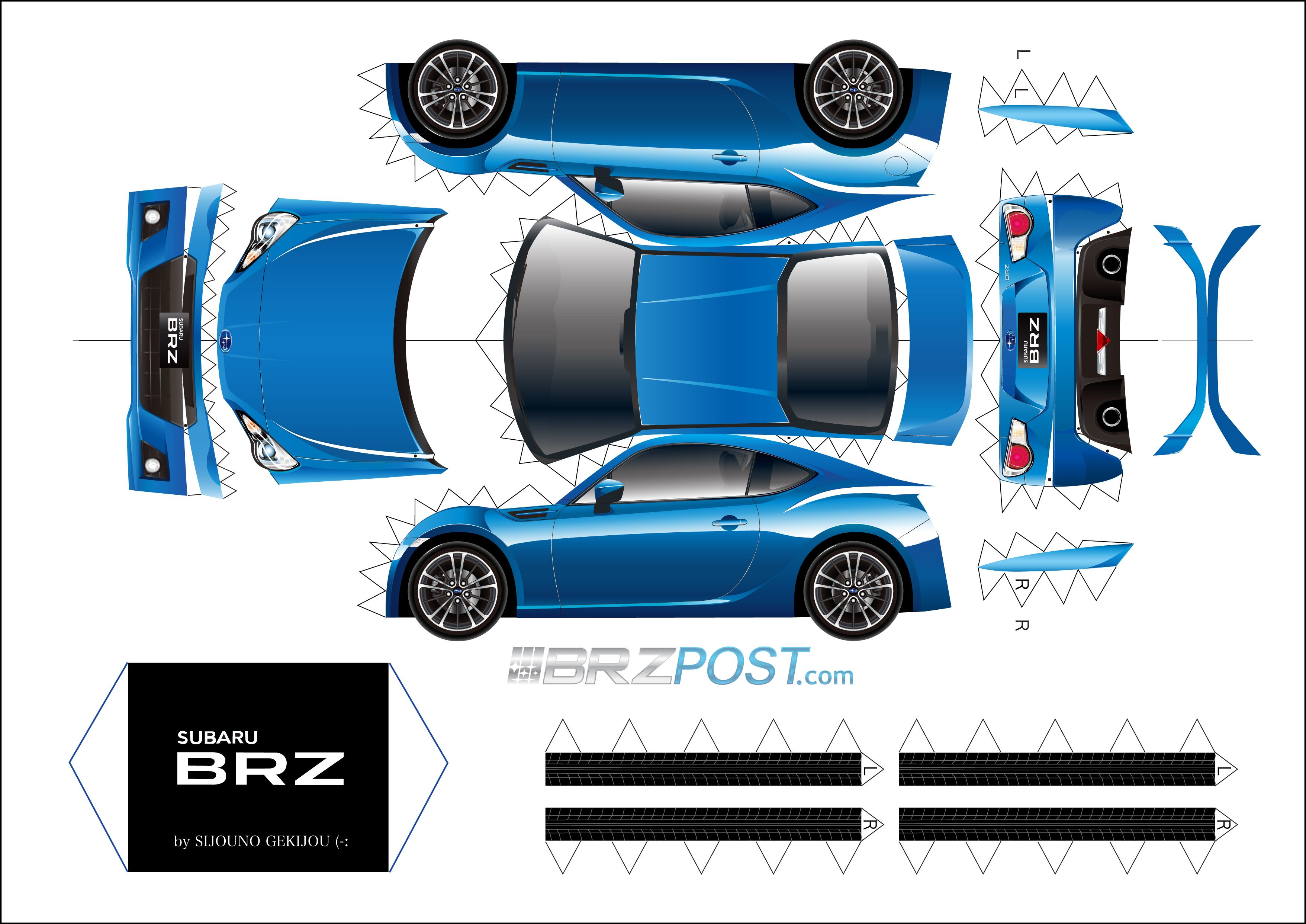 Foldable Paper Race Cars