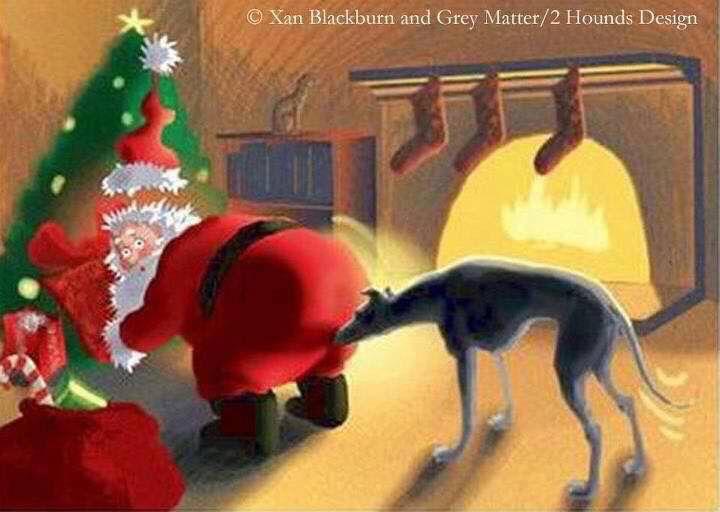Merry Christmas Greyhound Art Pinterest Whippets