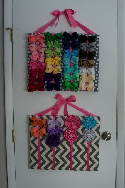 CHEAP and EASY to make, hair bow organizer for your little