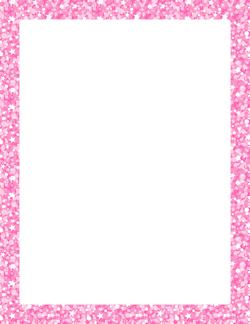pink glitter border borders frames