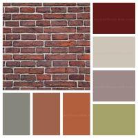 paint colour palette for brick   rustic home   Pinterest ...