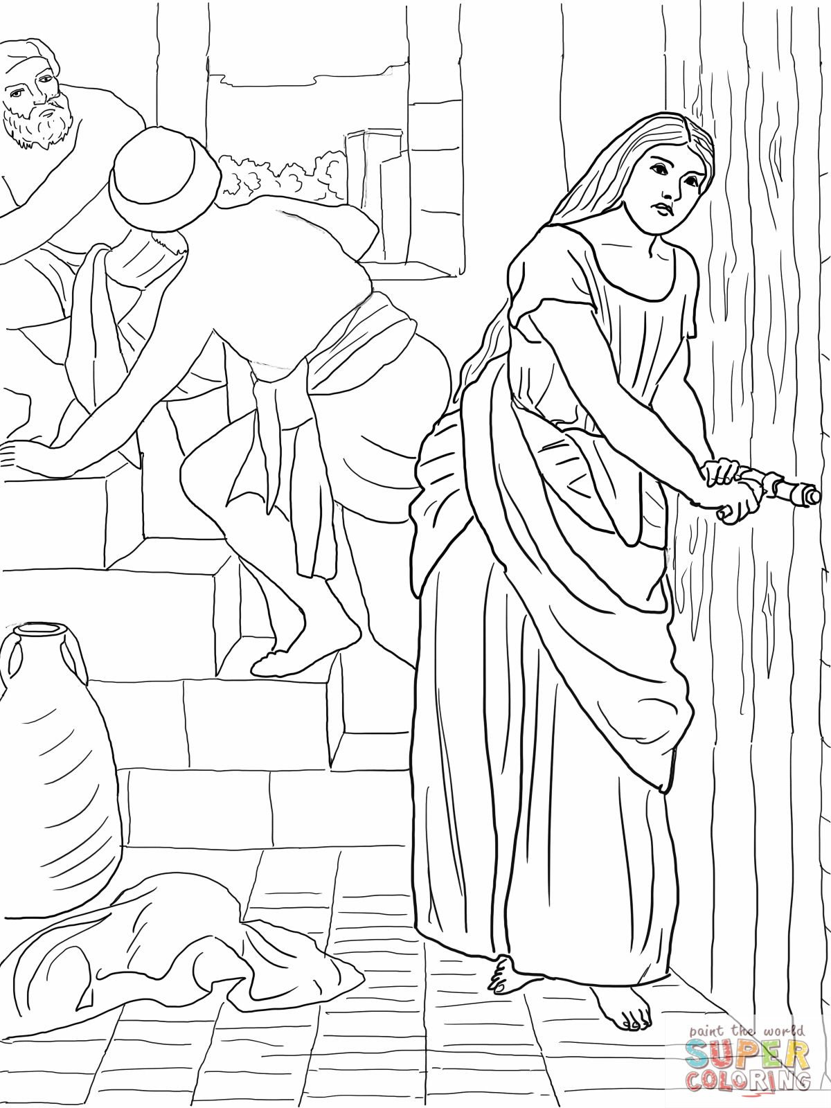 2 Rahab Hides The Spies Coloring Page Pixels