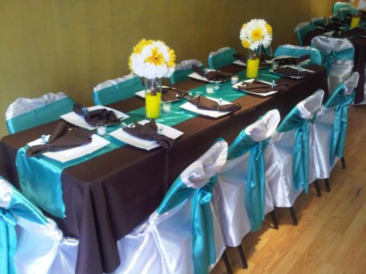 Teal And Brown Wedding Decorations Decoration For Home