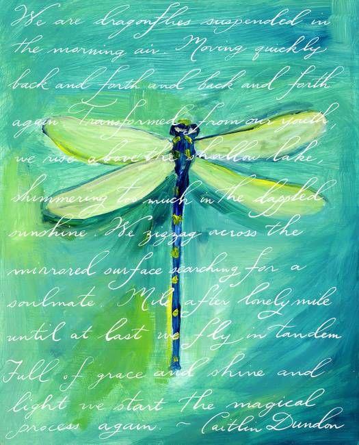 """""""green dragonfly"""" caitlin dundon"""