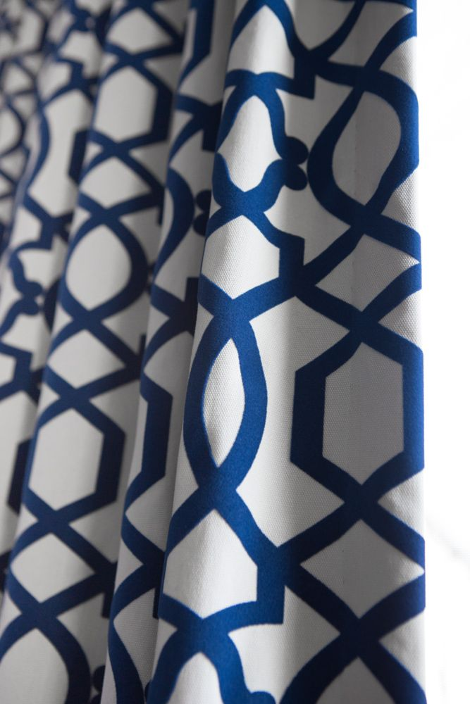 Beautiful Custom Blue Patterned Curtains Project By Massey