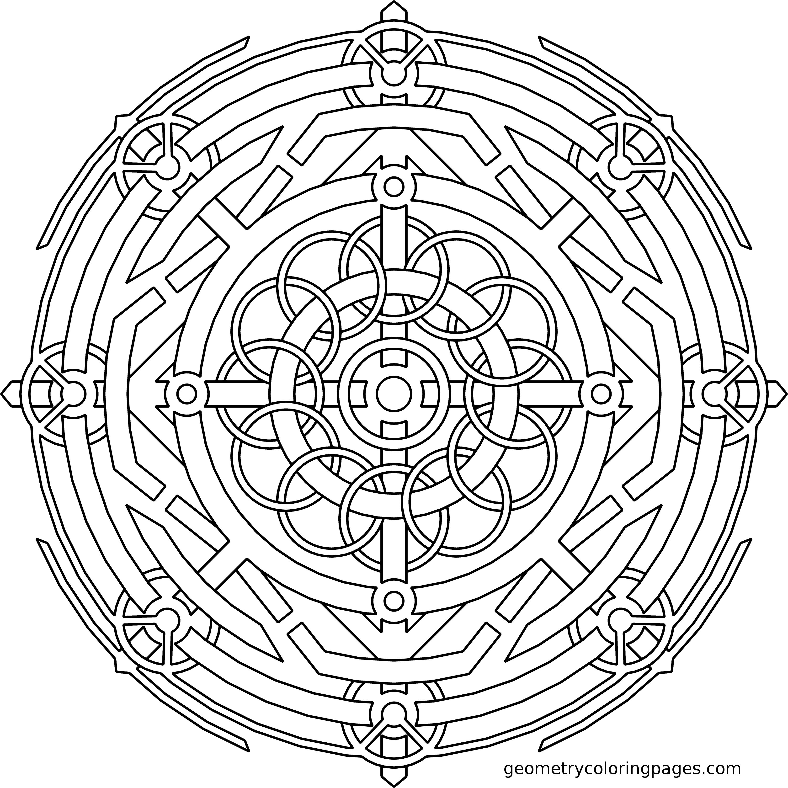 Mandala Coloring Page, Focus Device from