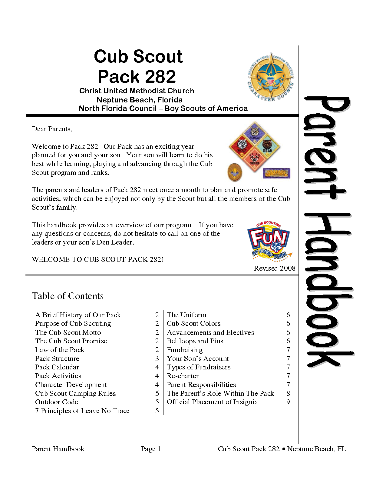 Cub Scout Pack 282c Download Legal Documents