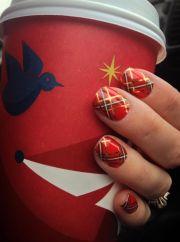 christmas plaid jamberry nails
